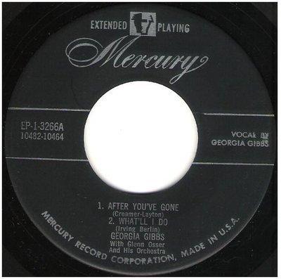 Gibbs, Georgia / Georgia Gibbs | Mercury EP-1-3266 | EP, 7
