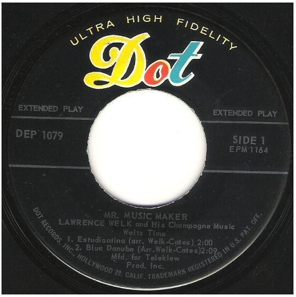 """Welk, Lawrence / Mr. Music Maker - Waltz Time   Dot DEP-1079   EP, 7"""" Vinyl   1959"""