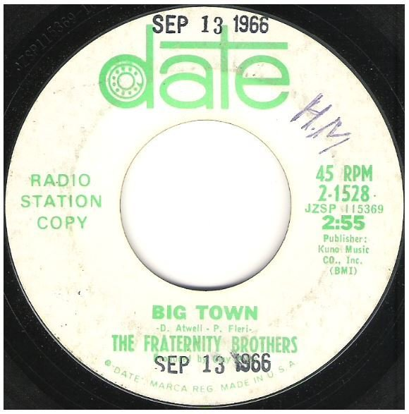 "Fraternity Brothers, The / Big Town | Date 2-1528 | Single, 7"" Vinyl 