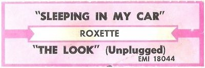 Roxette / Sleeping In My Car | EMI 18044 | Jukebox Title Strip | March 1994