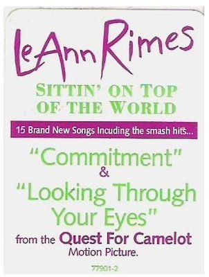 Rimes, LeAnn / Sittin' On Top of the World | Curb 77901-2 | Sticker | May 1998