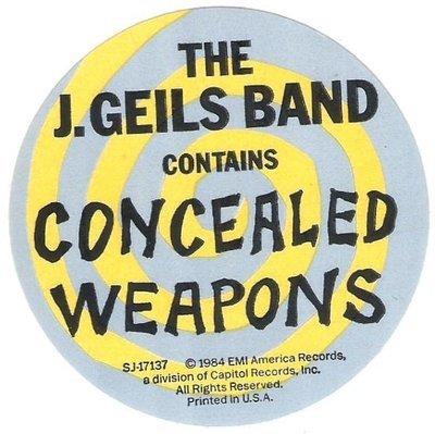 Geils, J. (Band) / You're Gettin' Even While I'm Gettin' Odd | EMI America SJ-17137 | Sticker | October 1984
