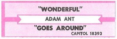 Ant, Adam / Wonderful | Capitol 18393 | Jukebox Title Strip | April 1995