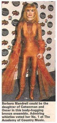 Mandrell, Barbara / Body-Hugging Bronze Ensemble | Magazine Photo | May 1995