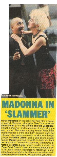 Madonna / Madonna In 'Slammer' | Magazine Article and Photo | 1987 | with Coati Mundi