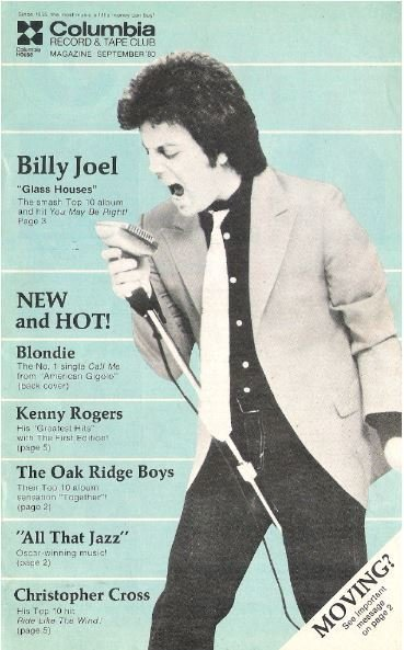 Joel, Billy / Columbia House (Columbia Record + Tape Club) | Catalog | September 1980