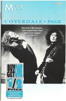 Coverdale - Page / Music (Columbia House) | Catalog | 1993