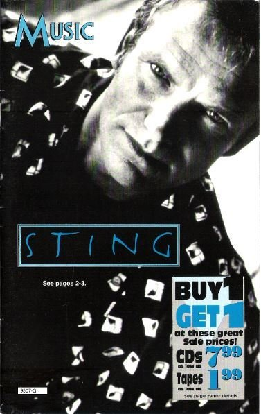 Sting / Music (Columbia House) | Catalog | 1993