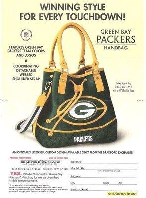 Bradford Exchange, The / Green Bay Packers - Handbag | Magazine Ad | 2018