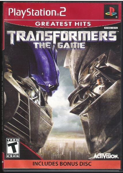 Playstation 2 / Transformers - The Game | Sony SLUS-21602GHP | Video Game | 2007 | with Bonus Disc
