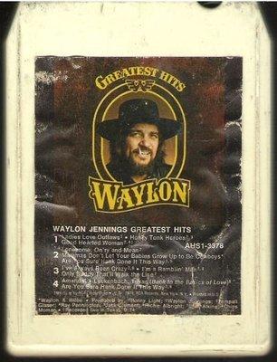 Jennings, Waylon / Greatest Hits | RCA AHS1-3378  | White Shell | 8-Track Tape | April 1979