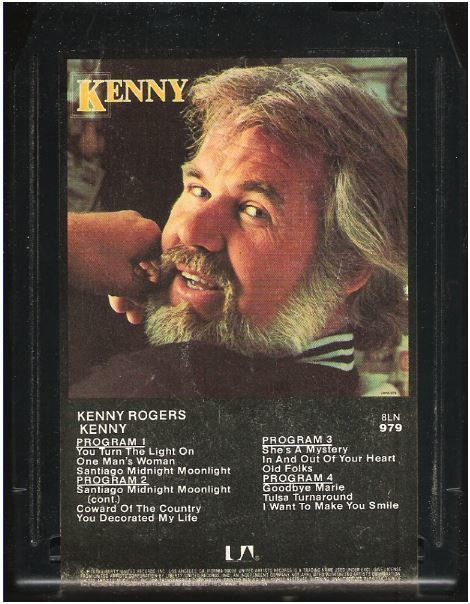 Rogers, Kenny / Kenny | United Artists 8LN-979  | Black Shell | 8-Track Tape | September 1979