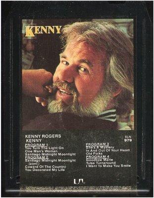 Rogers, Kenny / Kenny | United Artists 8LN-979  | Black Shell | 8-Track Tape | September 1979
