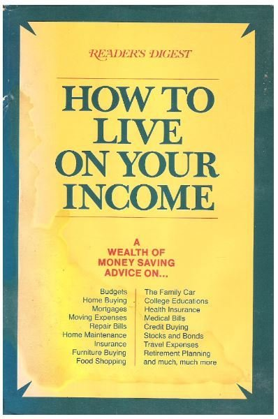Reader's Digest / How to Live On Your Income   Hardcover Book   1970