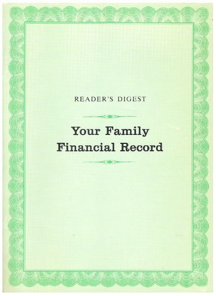 Reader's Digest / Your Family Financial Record | Book | 1970