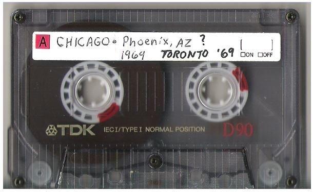 Chicago / Toronto, Canada | Live Cassette | 1969