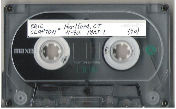 Clapton, Eric / Hartford, CT | Live Cassette | April 1990 | Part 1