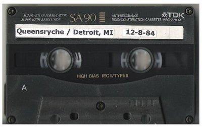 Queensryche / Detroit, MI | Live Cassette | December 1984