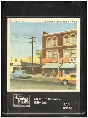 Joel, Billy / Streetlife Serenade | Family Productions F-83146  | Black Shell | 8-Track Tape | October 1974