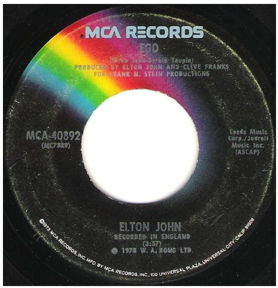 "John, Elton / Ego | MCA 40892 | Single, 7"" Vinyl 