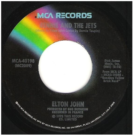 "John, Elton / Bennie and the Jets | MCA 40198 | Single, 7"" Vinyl 