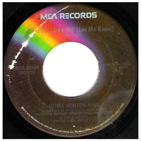 "Newton-John, Olivia / If You Love Me (Let Me Know) | MCA 40209 | Single, 7"" Vinyl | March 1974"