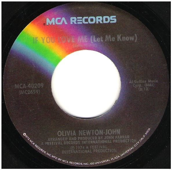"Newton-John, Olivia / If You Love Me (Let Me Know) | MCA 40209 | Single, 7"" Vinyl 