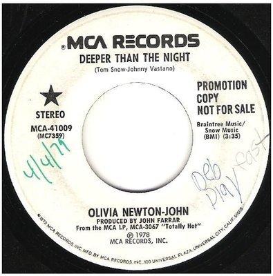 Newton-John, Olivia / Deeper Than the Night | MCA 41009 | Single, 7