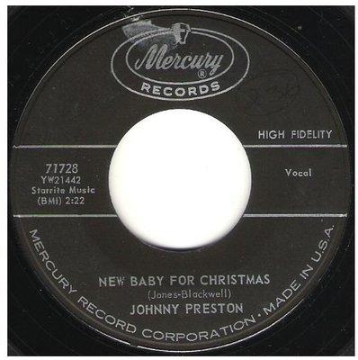 Preston, Johnny / New Baby For Christmas   Mercury 71728   Single, 7