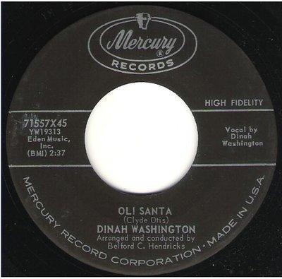 Washington, Dinah / Ol! Santa   Mercury 71557   Single, 7
