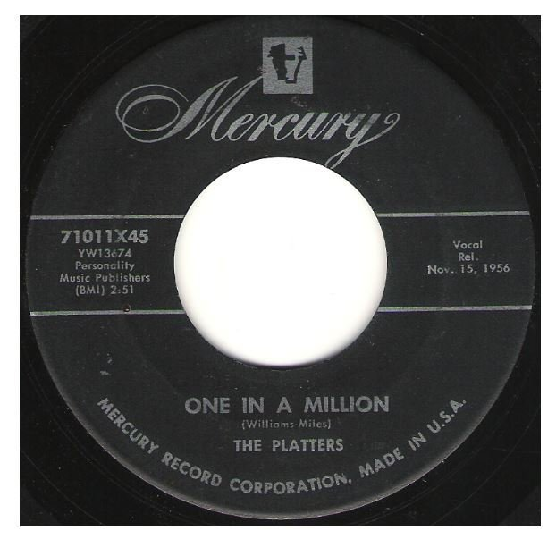 "Platters, The / One In a Million | Mercury 71011 | Single, 7"" Vinyl 