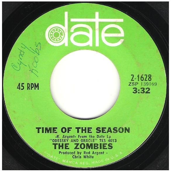 "Zombies, The / Time of the Season | Date 2-1628 | Single, 7"" Vinyl 