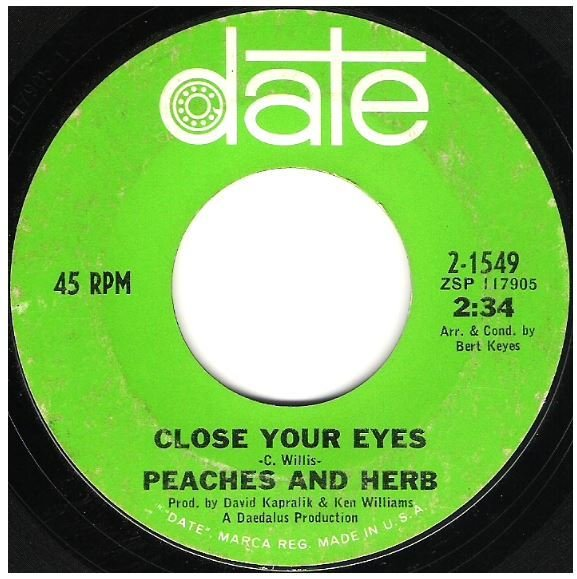"""Peaches + Herb / Close Your Eyes 