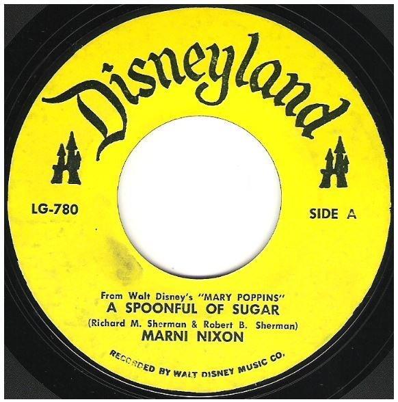 "Nixon, Marni / A Spoonful of Sugar | Disneyland LG-780 | Single, 7"" Vinyl | 1964"