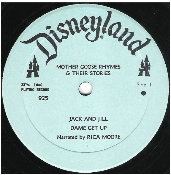 "Moore, Rica / Mother Goose Rhymes + Their Stories | Disneyland 925 | EP, 7"" Vinyl 