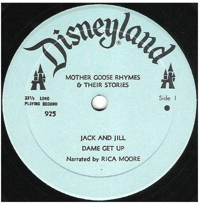 Moore, Rica / Mother Goose Rhymes + Their Stories | Disneyland 925 | EP, 7