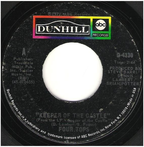 """Four Tops, The / Keeper of the Castle 