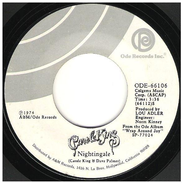 "King, Carole / Nightingale | Ode 66106 | Single, 7"" Vinyl | December 1974"