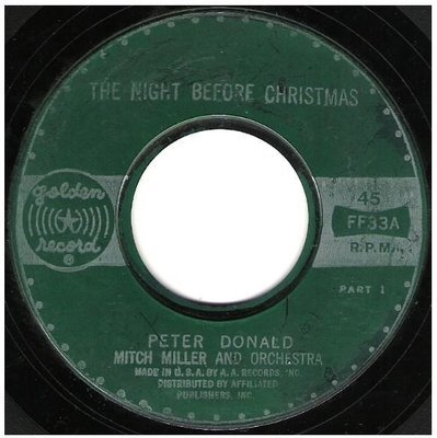 Donald, Peter / The Night Before Christmas | Golden Record FF-33 | Single, 7