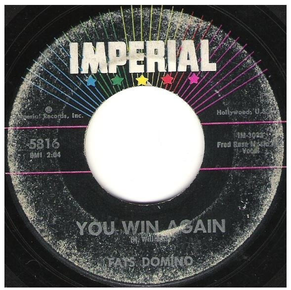 "Domino, Fats / You Win Again | Imperial 5816 | Single, 7"" Vinyl 