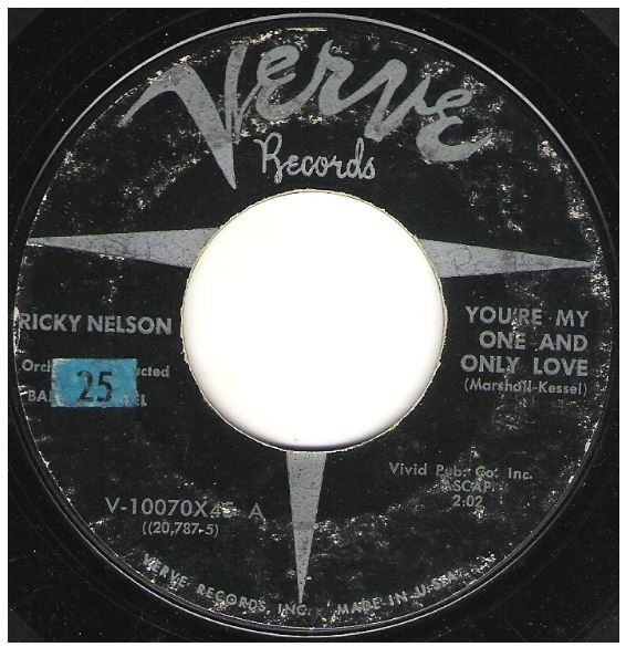 "Nelson, Ricky / You're My One and Only Love | Verve V-10070 | Single, 7"" Vinyl 