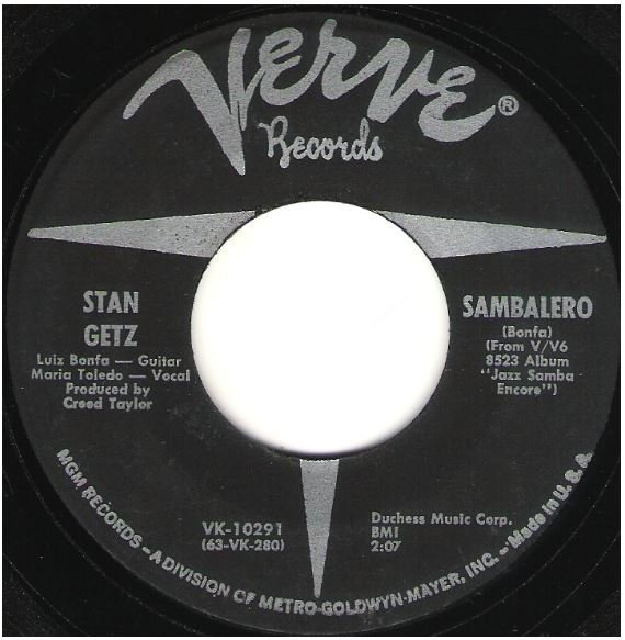 "Getz, Stan / Sambalero | Verve V-10291 | Single, 7"" Vinyl 
