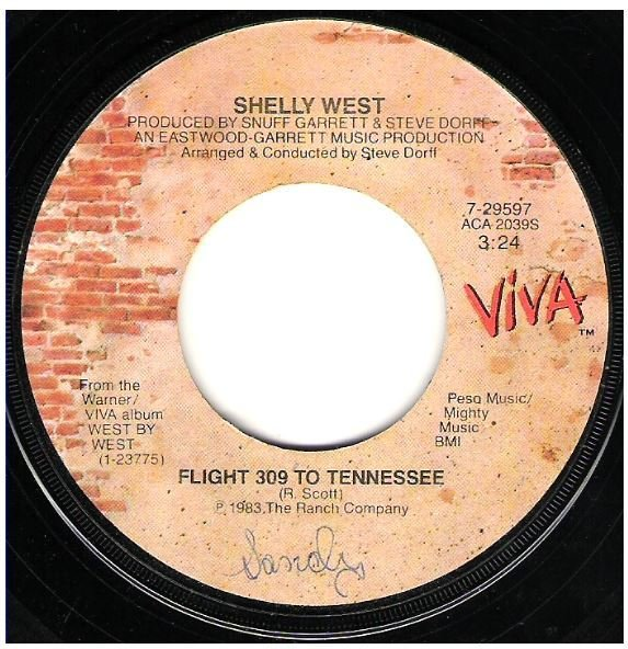 "West, Shelly / Flight 309 to Tennessee | Viva 7-29597 | Single, 7"" Vinyl 