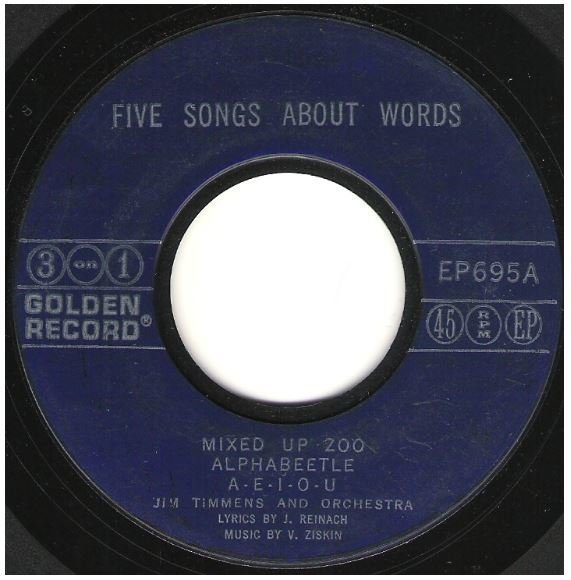 "Timmens, Jim / Five Songs About Words | Golden Record EP-695 | EP, 7"" Vinyl 