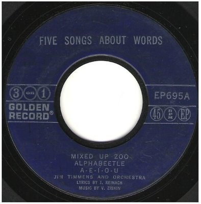 Timmens, Jim / Five Songs About Words | Golden Record EP-695 | EP, 7