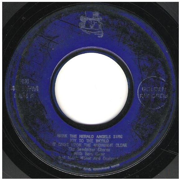 "Sandpiper Chorus, The / Hark the Herald Angels Sing + 4 | Golden Record 2091 | EP, 7"" Vinyl | 1966"