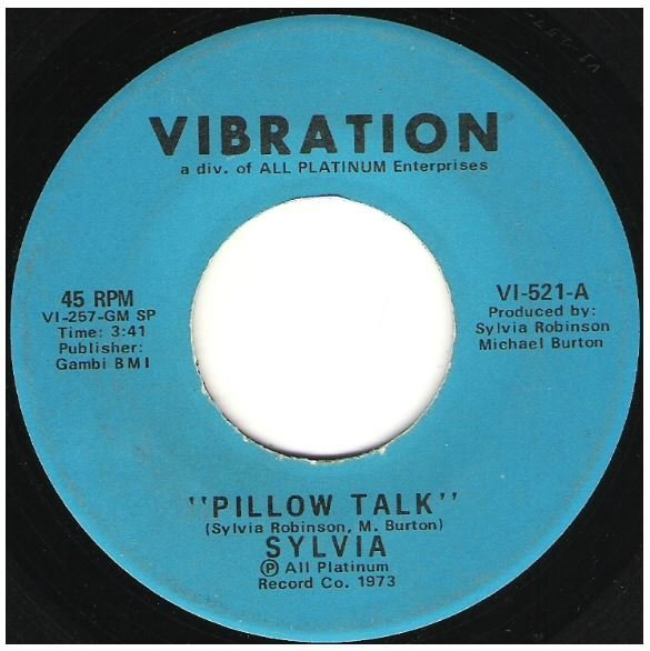 "Sylvia / Pillow Talk | Vibration VI-521 | Single, 7"" Vinyl 