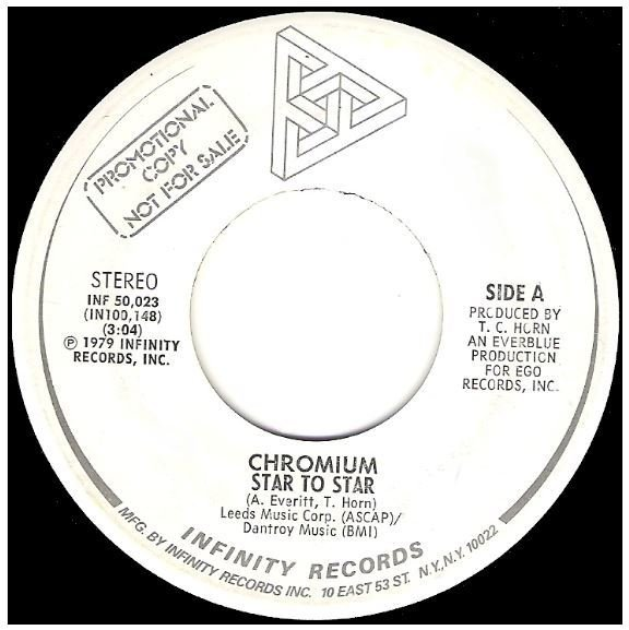 "Chromium / Star To Star | Infinity INF-50,023 | Single, 7"" Vinyl 