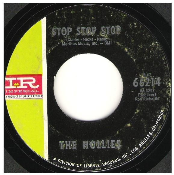 "Hollies, The / Stop Stop Stop | Imperial 66214 | Single, 7"" Vinyl 