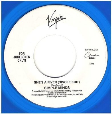 Simple Minds / She's a River | Virgin S7-18402 | Single, 7